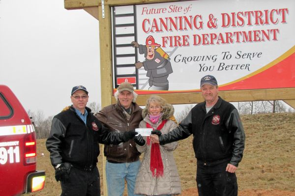 Canning Volunteer Fire Department accepting donation